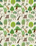 Modelo inconsútil del árbol stock de ilustración
