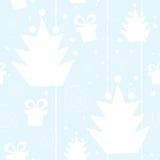 Modelo inconsútil del árbol de navidad Imágenes de archivo libres de regalías