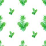 Modelo inconsútil del árbol de navidad ilustración del vector
