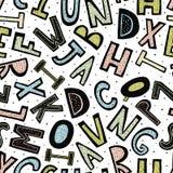 Modelo incons?til del alfabeto creativo ilustración del vector