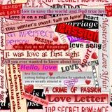 Modelo inconsútil del amor Imagen de archivo libre de regalías