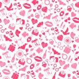 Modelo inconsútil del amor del día de tarjetas del día de San Valentín Imágenes de archivo libres de regalías