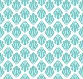 Modelo inconsútil del art déco Textura decorativa floral geométrica El vector deja el fondo elegante Ejemplo abstracto de la cásc libre illustration