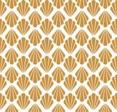 Modelo inconsútil del art déco Textura decorativa floral geométrica El vector deja el fondo elegante Ejemplo abstracto de la cásc stock de ilustración
