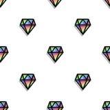 Modelo inconsútil del arte del pixel del estilo del diamante de la moda del fondo stock de ilustración
