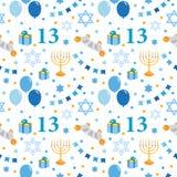 Modelo inconsútil del bar mitzvah Día de fiesta judío para los muchachos Ilustración del vector ilustración del vector