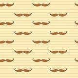 Modelo inconsútil del bigote Musrache de Retto Fondo del vector del bigote Fondo retro del vector EPS10 Fotografía de archivo libre de regalías