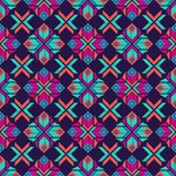 Modelo inconsútil del boho étnico Ornamento tradicional Fondo geométrico Modelo tribal Adorno popular ilustración del vector