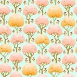Modelo inconsútil del bosque de la primavera stock de ilustración
