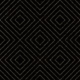 Modelo inconsútil del brillo geométrico del oro de líneas diagonales Imágenes de archivo libres de regalías