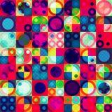 Modelo inconsútil del círculo brillante ilustración del vector