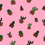 Modelo inconsútil del cactus Imagen de archivo libre de regalías