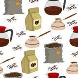 Modelo inconsútil del café Fotos de archivo