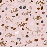Modelo inconsútil del café Imagen de archivo