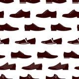 Modelo inconsútil del calzado de la elegancia Textura inconsútil de las botas masculinas ilustración del vector
