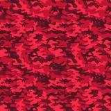 Modelo inconsútil del camo militar Camuflaje rojo stock de ilustración