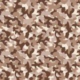 Modelo inconsútil del camo militar Contexto del camuflaje en marrón del desierto libre illustration