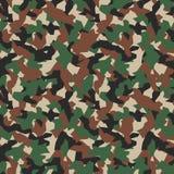 Modelo inconsútil del camo militar Contexto geométrico del camuflaje en Forest Green ilustración del vector