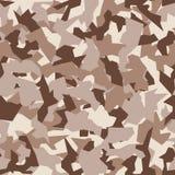 Modelo inconsútil del camo militar Contexto geométrico del camuflaje en marrón del desierto libre illustration