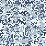 Modelo inconsútil del camuflaje azul del dígito Imagen de archivo libre de regalías