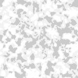 Modelo inconsútil del camuflaje con el mosaico de manchas abstractas Invierno o fondo militar ártico del camo en gris claro ilustración del vector