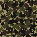 Modelo inconsútil del camuflaje Diseño de la moda para enmascarar, estilo militar Verde, marrón, negro, la aceituna colorea el fo stock de ilustración