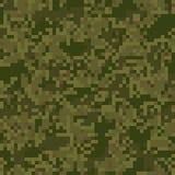 Modelo inconsútil del camuflaje verde del dígito Foto de archivo