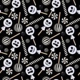 Modelo inconsútil del caramelo de Halloween ilustración del vector