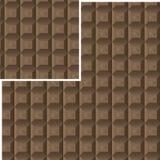 Modelo inconsútil del chocolate Stock de ilustración