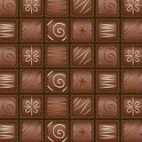 Modelo inconsútil del chocolate del vector Imagenes de archivo