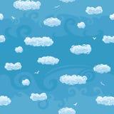Modelo inconsútil del cielo azul stock de ilustración