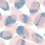 Modelo inconsútil del collage floral Ejemplo abstracto moderno del estilo del arte contemporáneo stock de ilustración