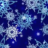 Modelo inconsútil del copo de nieve Imagen de archivo libre de regalías
