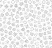 Modelo inconsútil del copo de nieve de la Navidad Fotos de archivo