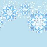 Modelo inconsútil del copo de nieve del invierno Foto de archivo
