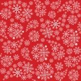 Modelo inconsútil del copo de nieve Fondo de los copos de nieve Modelo de la Navidad Ilustración del vector Fotografía de archivo