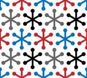 Modelo inconsútil del copo de nieve moderno del vector Repetición del fondo geométrico de la textura stock de ilustración