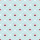 Modelo inconsútil del corazón abstracto retro lindo Puede ser utilizado para el papel pintado, terraplenes de la cubierta, fondo  Foto de archivo libre de regalías