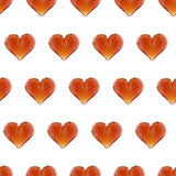 Modelo inconsútil del corazón de la gema del ejemplo Fondo del día del ` s de la tarjeta del día de San Valentín Fotografía de archivo libre de regalías