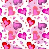 Modelo inconsútil del corazón de la tarjeta del día de San Valentín ilustración del vector
