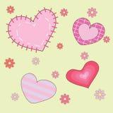 Modelo inconsútil del corazón del fondo, ejemplo del vector Foto de archivo libre de regalías