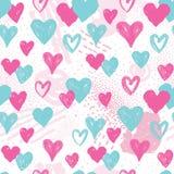Modelo inconsútil del corazón Fondo del día de fiesta decoración del día de San Valentín stock de ilustración