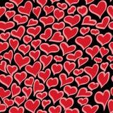 Modelo inconsútil del corazón Ilustración del vector Imagen de archivo