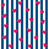 Modelo inconsútil del corazón Vector romántico del fondo Imágenes de archivo libres de regalías