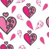 Modelo inconsútil del corazón y de las mitades del corazón libre illustration
