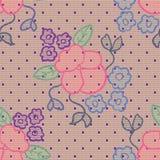 Modelo inconsútil del cordón de la tela violeta del vector Fotografía de archivo