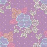 Modelo inconsútil del cordón de la tela violeta del vector Imagen de archivo