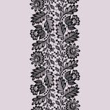 Modelo inconsútil del cordón negro stock de ilustración