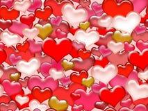 Modelo inconsútil del día de tarjeta del día de San Valentín. Fotografía de archivo