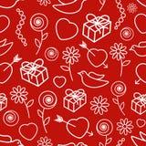 Modelo inconsútil del día de tarjeta del día de San Valentín Imagen de archivo libre de regalías